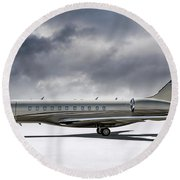 Bombardier Global 5000 Round Beach Towel
