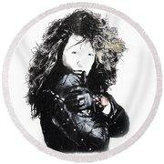 Round Beach Towel featuring the digital art Bon Jovi by Gina Dsgn
