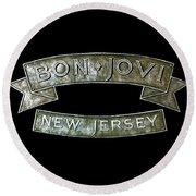 Bon Jovi New Jersey Round Beach Towel
