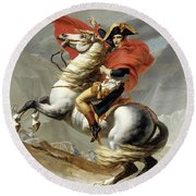 Bonaparte Crossing The Alps Round Beach Towel
