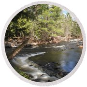Upper Bond Falls No.7965 Round Beach Towel