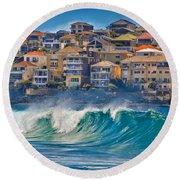 Bondi Waves Round Beach Towel