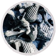 Bones From A Mass Extinction Event Round Beach Towel