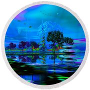 Bongus Bay Round Beach Towel by Mark Blauhoefer