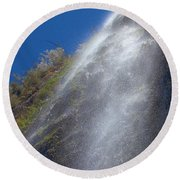 Bonita Waterfalls Splatter Round Beach Towel