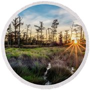 Bonnet Carre Sunset Round Beach Towel