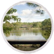 Bonsai Lake Round Beach Towel