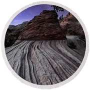Bonzai In The Night Utah Adventure Landscape Photography By Kaylyn Franks Round Beach Towel