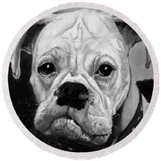 Boo The Boxer Round Beach Towel
