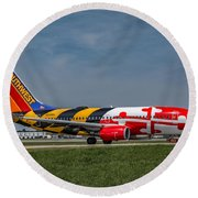 Boeing 737 Maryland Round Beach Towel