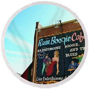 Boogie And Blues Round Beach Towel by JAMART Photography