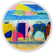 Book Club Of Four Round Beach Towel