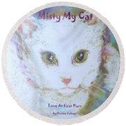 Book Misty My Cat Round Beach Towel