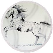 Loud Appaloosa Round Beach Towel by Cheryl Poland