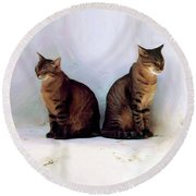 Bookends - Rdw250805 Round Beach Towel