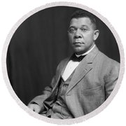 Booker T. Washington Round Beach Towel