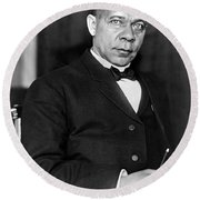 Booker Taliaferro Washington Round Beach Towel by Waldon Fawcett