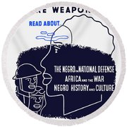 Books Are Weapons - Wpa Round Beach Towel