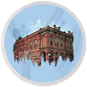 Boomtown Saloon Jacksonville Oregon Usa Round Beach Towel