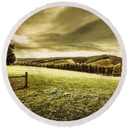 Boonah Countryside Round Beach Towel