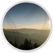 Boone Nc Area Sunset Round Beach Towel