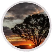 Boorowa Sunset Round Beach Towel