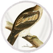 Booted Eagle Round Beach Towel by English School