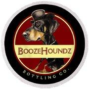 Boozehoundz Bottling Co. Round Beach Towel
