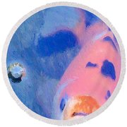 Round Beach Towel featuring the photograph Bop by Heidi Smith