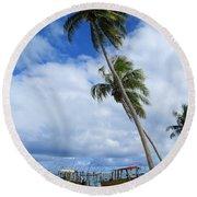 Bora Bora View Round Beach Towel