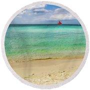 Boracay Seascape Round Beach Towel