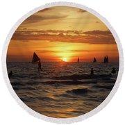 Boracay Sunset Round Beach Towel