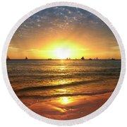 boracay,Philippians 4 Round Beach Towel