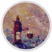 Bordeaux Round Beach Towel