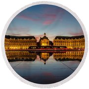 Bordeaux Reflections Round Beach Towel