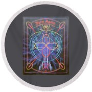 Born Again  Round Beach Towel