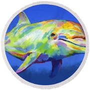 Born To Live Wild Round Beach Towel by Stephen Anderson