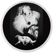 Borzoi Round Beach Towel