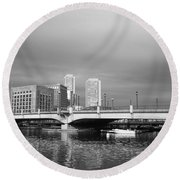 Boston Bridge Round Beach Towel