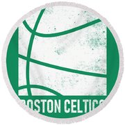 Boston Celtics City Poster Art 2 Round Beach Towel