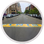 Boston Marathon Finish Line Round Beach Towel