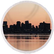 Boston Outline Round Beach Towel