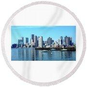 Boston Reflected Round Beach Towel