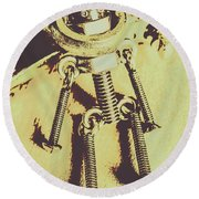 Bot The Builder Round Beach Towel