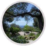 Round Beach Towel featuring the photograph Botanic Gardens - Gibraltar by Phil Banks
