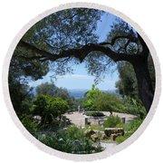 Botanic Gardens - Gibraltar Round Beach Towel