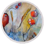 Botanical Round Beach Towel