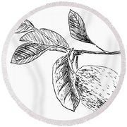Botanical Lemon Round Beach Towel