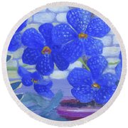 Botanical Orchic Round Beach Towel