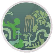 Botaniscribble Round Beach Towel by Kevin McLaughlin
